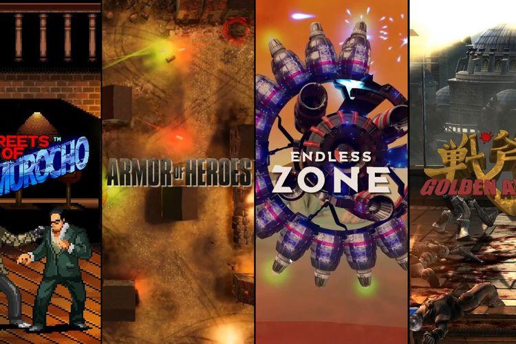 Ilustrasi 4 game gratis yang diberikan Sega.