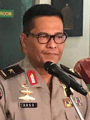 Kepala Biro Penerangan Masyarakat Divisi Humas Polri Brigjen (Pol) Argo Yuwono di bilangan Jakarta Selatan, Jumat (22/11/2019).