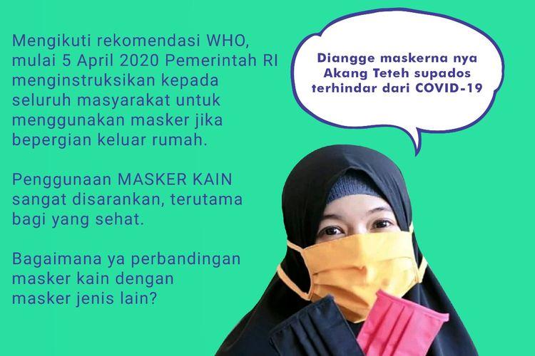 Saran penggunaan masker kain bagi masyarakat