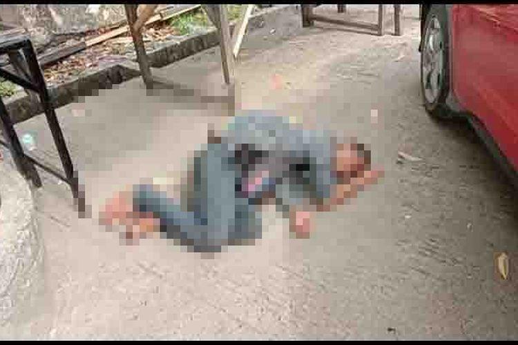 Pemuda asal Kerinci roboh di pinggir jalan karena menderita sesak nafas namun menghebohkan warga dikira Covid-19