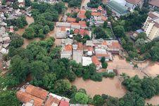 FOTO: Banjir Jakarta dari Udara yang Dipantau Kepala BNPB dan Anies