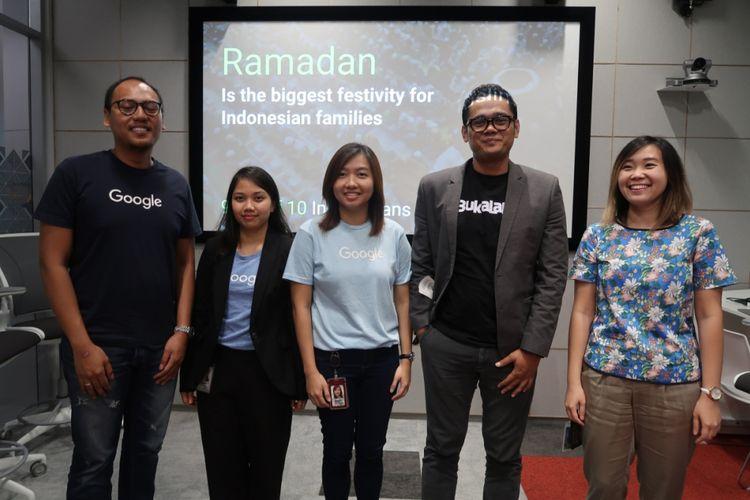 Google umumkan tren Ramadan 2018 berdasarkan kajian data tahun-tahun sebelumnya, Kamis (3/5/2018), di Kantor Google Indonesia, Jakarta.