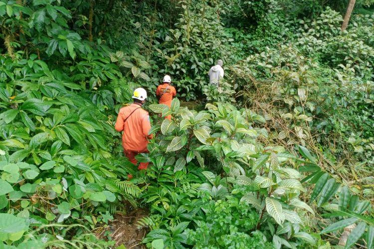 Basarnas Bali saat menacari 4 pendaki yang hilang di Gunung Sanghyang, Tabanan, Bali.