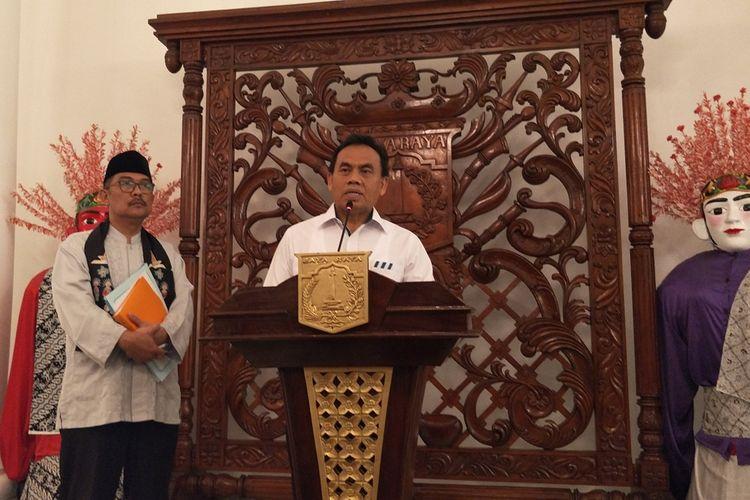 Sekretaris Daerah DKI Jakarta Saefullah di Balai Kota DKI Jakarta, Jalan Medan Merdeka Selatan, Jumat (11/10/2019).