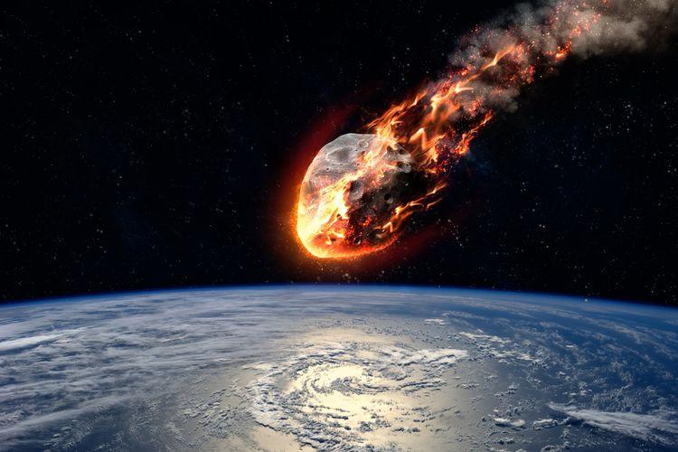 Ilustrasi meteor jatuh ke Bumi. Viral meteor jatuh di Sulawesi.