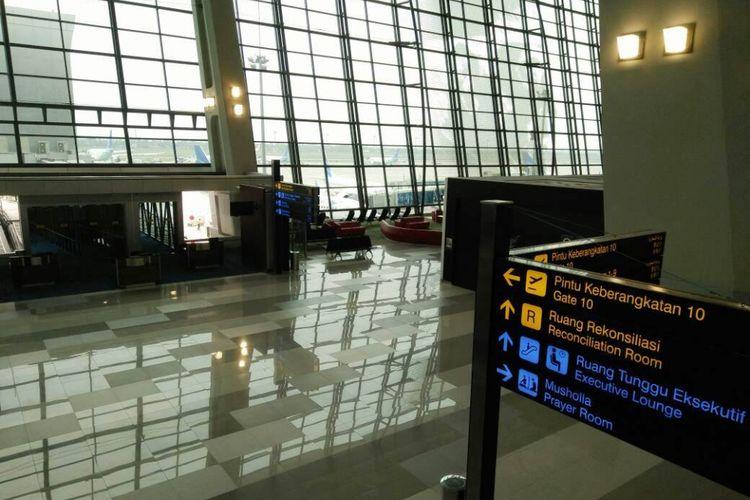 Terminal 3 gate 1, Bandara Internasional Soekarno Hatta menyambut dibukanya layanan penerbangan internasional oleh Garuda Indonesia, Kamis (27/04/2017).
