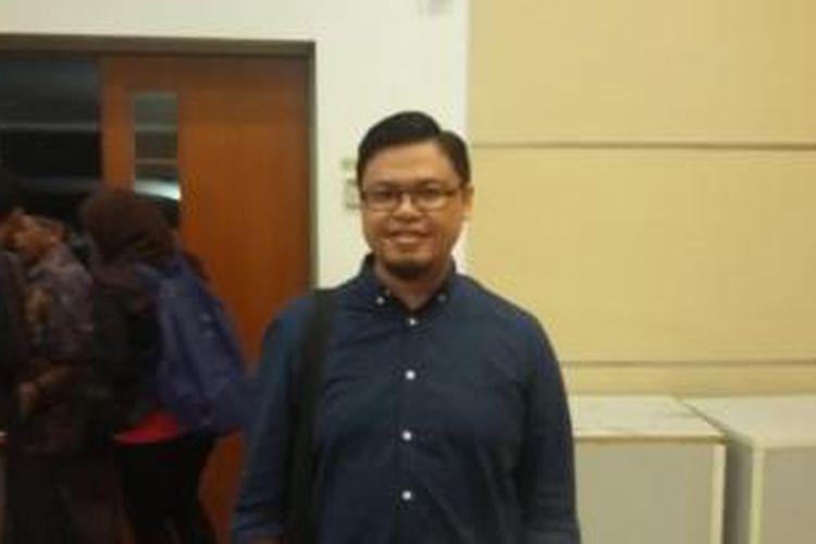 Muhammad Jibriel, pemilik situs Arrahmah.com, saat ditemui di Kementerian Komunikasi dan Informatika; Jakarta Pusat, Selasa (7/4/2015).