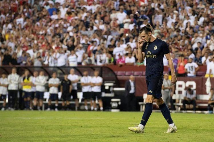 Gareth Bale saat turun di  laga International Champions Cup 2019 antara Real Madrid vs Arsenal, di FedEx Field, Maryland, Amerika Serikat, Selasa (23/7/2019) atau Rabu pagi WIB.