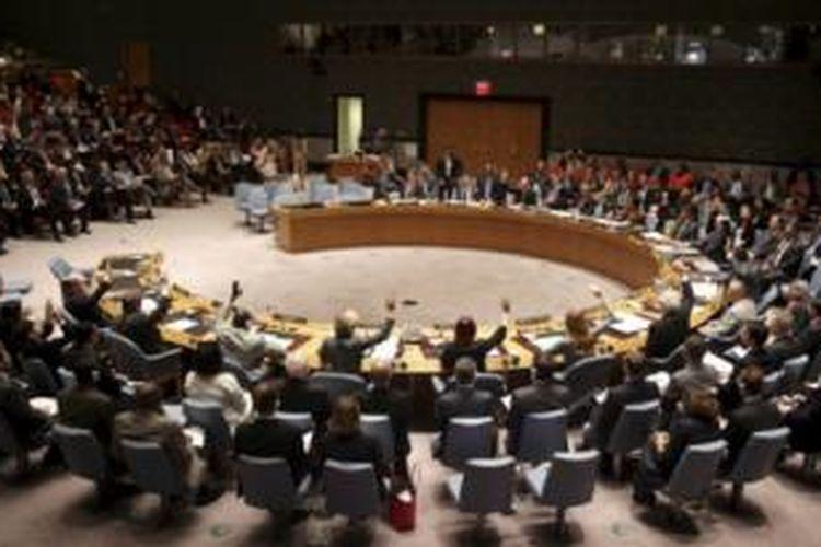 Seluruh 15 anggota Dewan Keamanan PBB secara bulat menerima resolusi yang diusulkan Australia.
