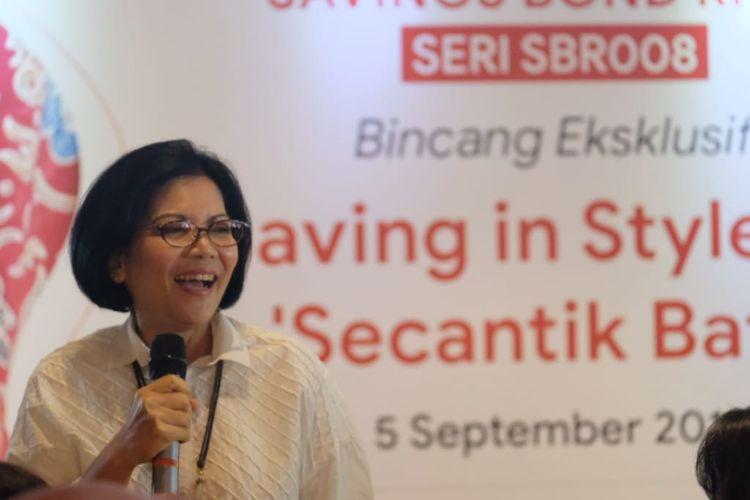 Direktur Surat Utang Negara Kemenkeu Loto Srinaita Ginting, Jakarta, Kamis (5/9/2019)