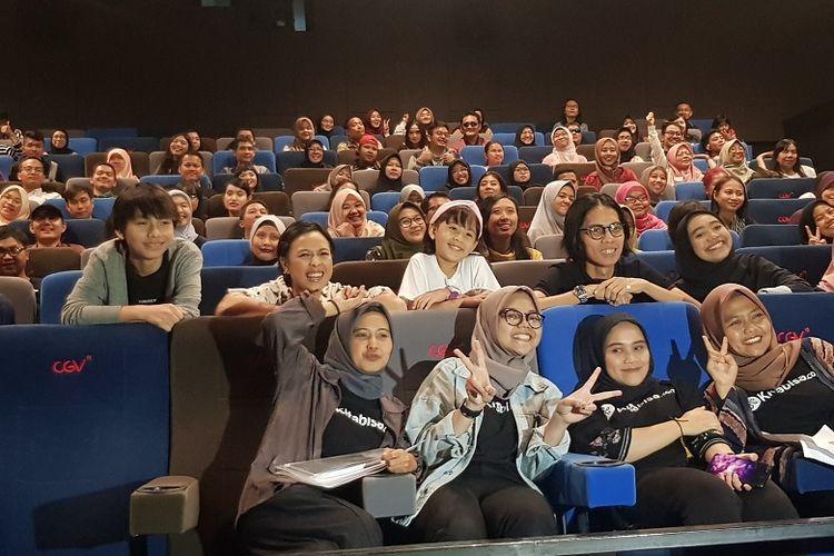 Bioskop Bisik Nobar NKCTHI di CGV FX Sudirman, Jakarta, Minggu (12/1/2020)
