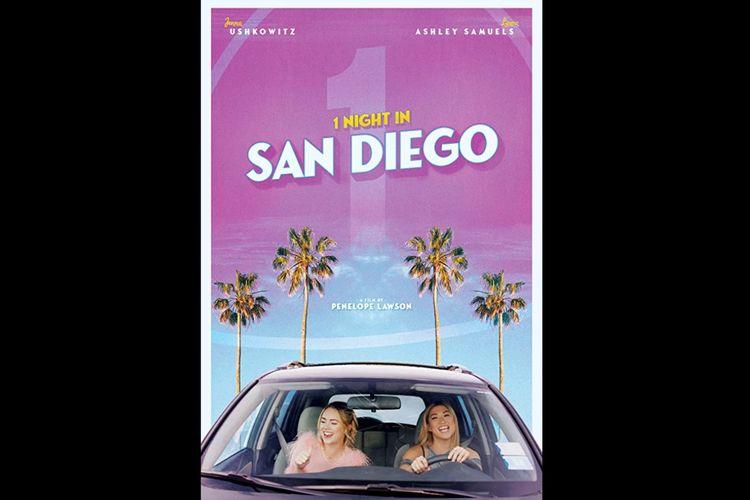 Jenna Ushkowitz dan Laura Ashley Samuels dalam film komedi 1 Night in San Diego (2020).