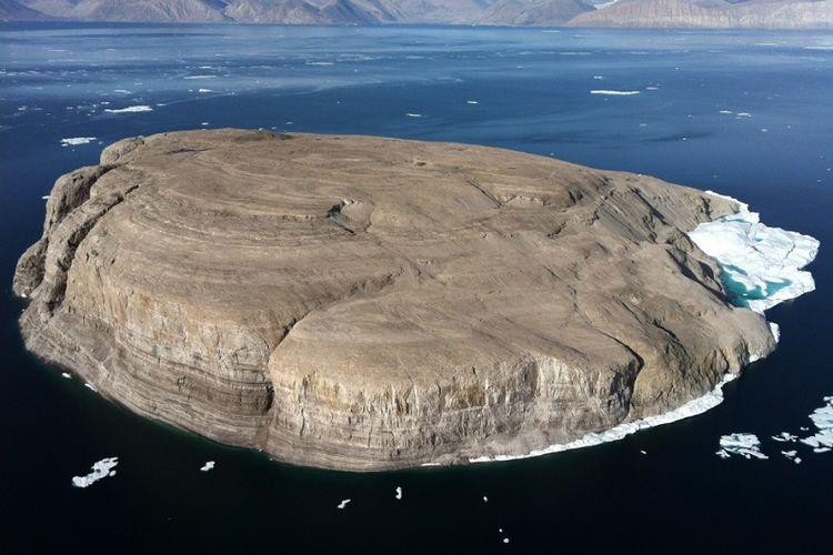 Inilah Pulau Hans yang diperebutkan Kanada dan Denmark.