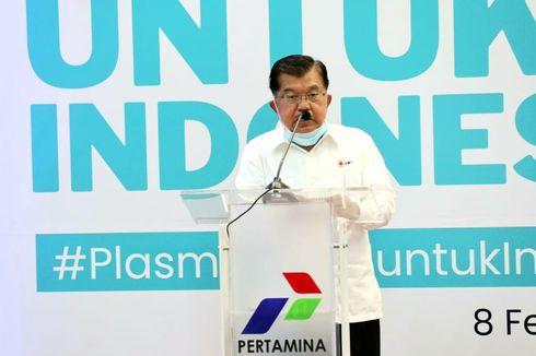 Jusuf Kalla Sebut Sudah 50.000 Orang Jadi Donor Plasma Konvalesen