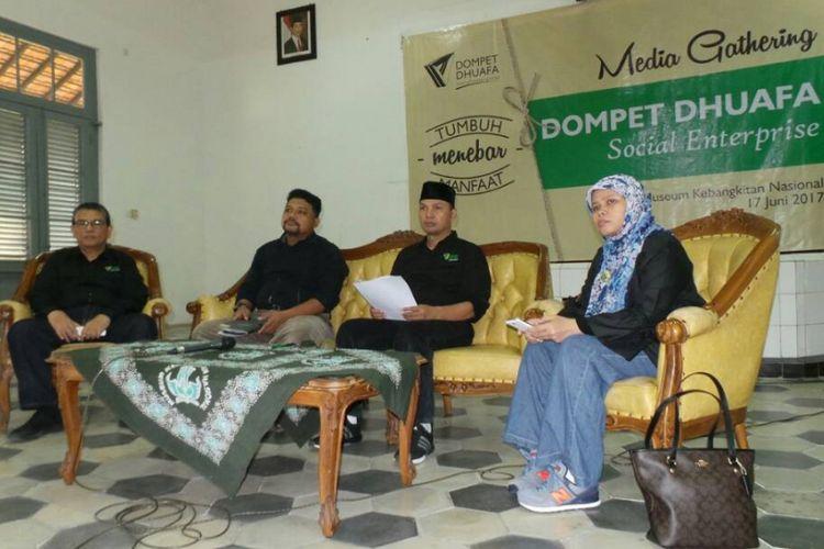 Media Gathering Dompet Dhuafa Social Enterprise di Jakarta, Sabtu (17/6/2017).