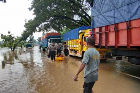 Diterjang Banjir, Ruas Jalan Nasional Madiun-Ngawi Putus Total