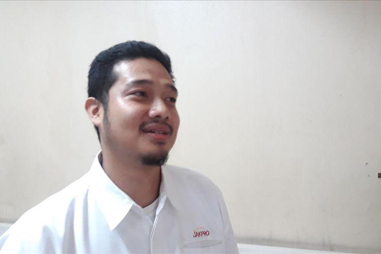 Corporate Communication PT Jakarta Utilitas Propertindo Mufti Iqbal di Balai Kota, Jakarta Pusat, Rabu (10/7/2019)