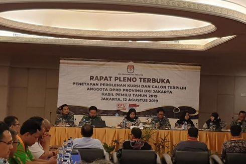 Sah, Ini Jumlah Perolehan Kursi DPRD DKI Jakarta 2019-2024