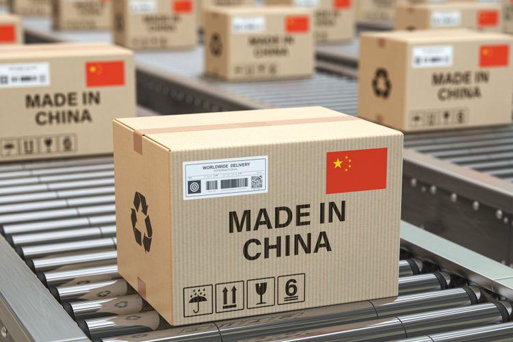 Ilustrasi paket dari China