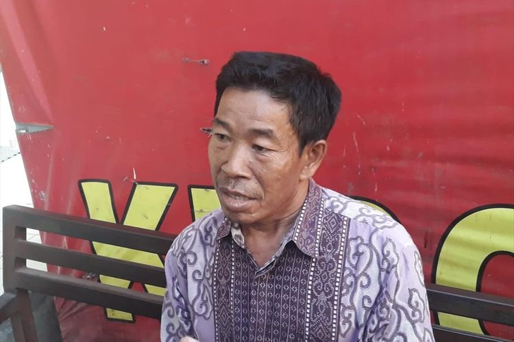 Mahmud (48), paman Khoriah yang tewas dibunuh suaminya bernama Jumharyono di rumah kontrakannya, Jalan Dukuh V, Kramat Jati, Jakarta Timur, Selasa (6/9/2019).