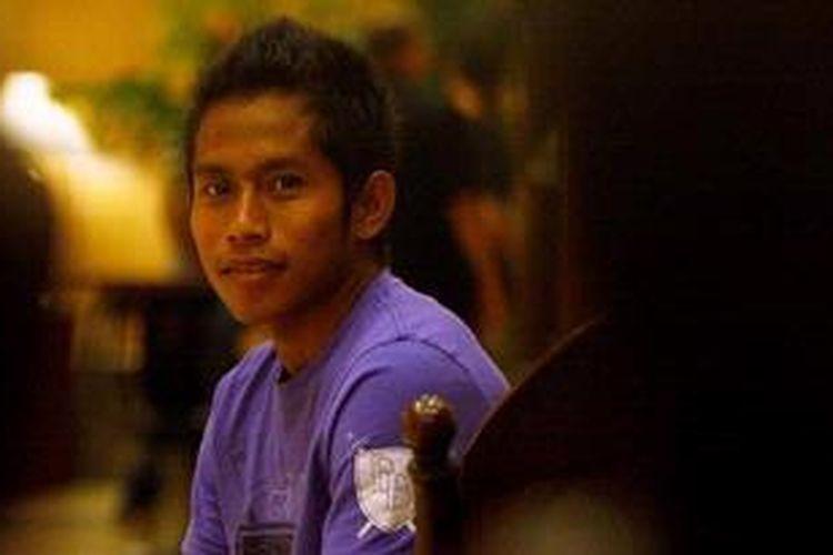 Pemain tim nasional Indonesia, Andik Vermansah.