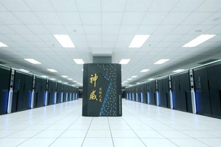 Superkomputer Sunway TaihuLight milik China yang terpasang di National Supercomputing Center, kota Wuxi