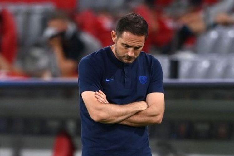 Frank Lampard dalam laga Bayern Muenchen vs Chelsea pada leg kedua 16 besar Liga Champions 2019-2020 di Allianz Arena.
