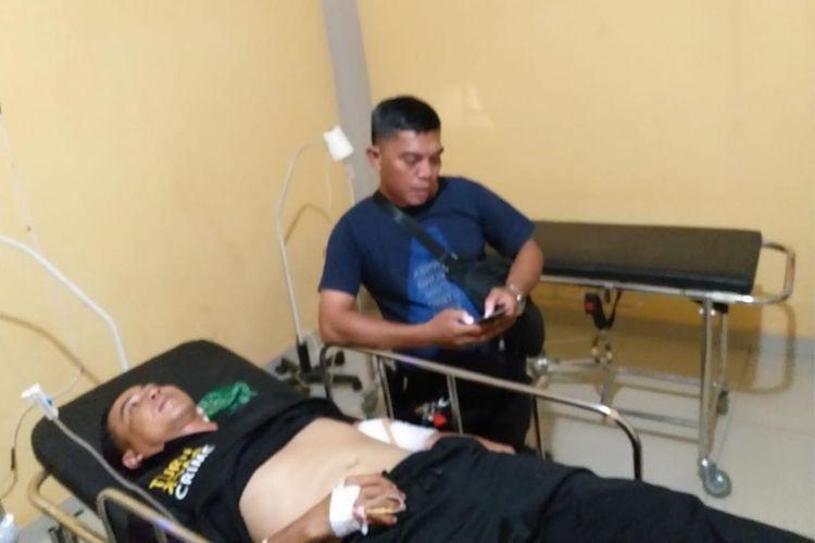 Bripka Darmawan anggota Polsek Ulu Musi yang menjadi korban penusukan akibat penyerangan di Kabupaten Empat Lawang, Rabu (31/7/2019).