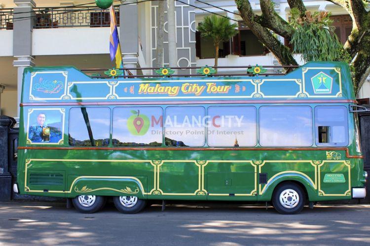Bus ala Eropa dihadirkan untuk menjelajah Kota Malang.