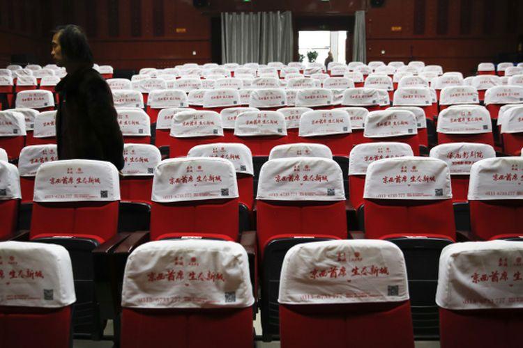 Ilustrasi Bioskop di China. Lima provinsi kembali membuka jaringan bioskop menyusul tidak adanya laporan kasus baru virus corona di China