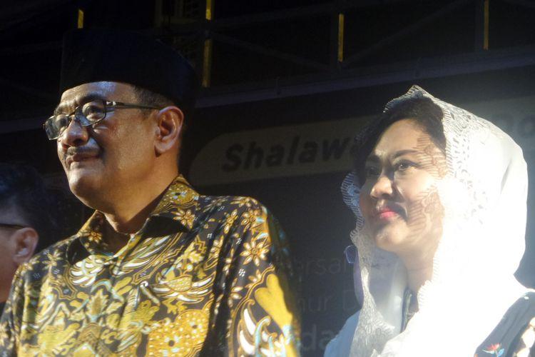 Plt Gubernur DKI Jakarta Djarot Saiful Hidayat saat menghadiri acara Malam 1000 Cahaya di Kompleks Makam Mbah Priok, Jakarta Utara, Sabtu (20/5/2017)
