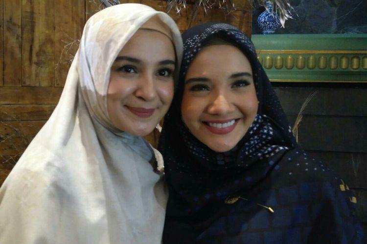 Shireen Sungkar dan Zaskia Sungkar saat ditemui dalam sebuah acara di kawasan Petogogan, Kebayoran Baru, Jakarta Selatan, Senin (29/4/2019).