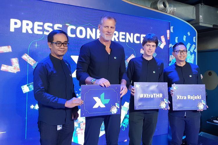 Direktur Komersil XL Axiata, Allan Bonke (kedua dari kiri) di acara peluncuran paket data Xtra Rejeki dari XL Axiata, Kamis (2/5/2019).