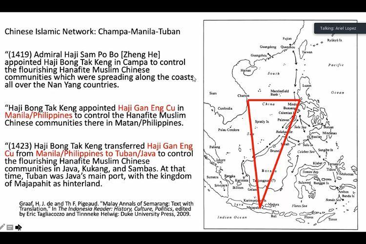 Peta jaringan China Islam di Champa, Manila, Tuban untuk perdagangan rempah