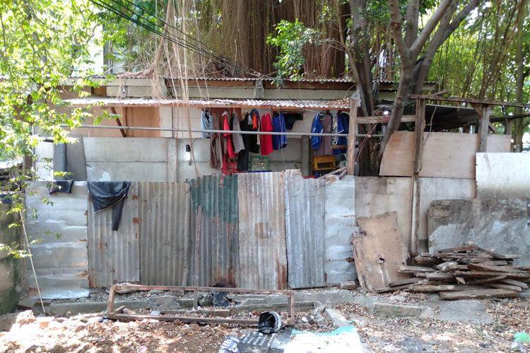 Tempat yang diduga lokasi penampungan anjing ilegal di kawasan Setia Budi, Jakarta Selatan. Foto diambil  Jumat (26/7/2019).