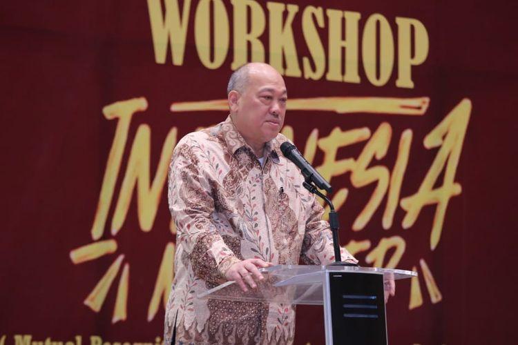 Ketua Ketua Badan Nasional Sertifikasi Profesi (BNSP) Kunjung Masehat saat membuka workshop Mutual Recognition Arrangement on Tourism Professional (MRA-TP) di Jakarta, Kamis (22/8/2019).