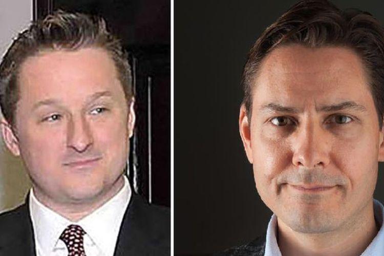 Michael Kovrig (kanan) dan Michael Spavor, warga Kanada yang kini ditahan China. (AFP)