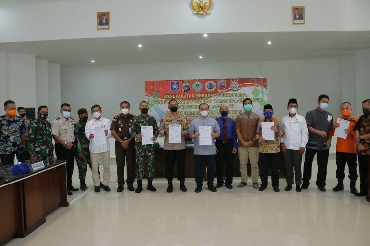 Penandatanganan kesepakatan bersama di Makorem Gaya, Bangka Belitung.
