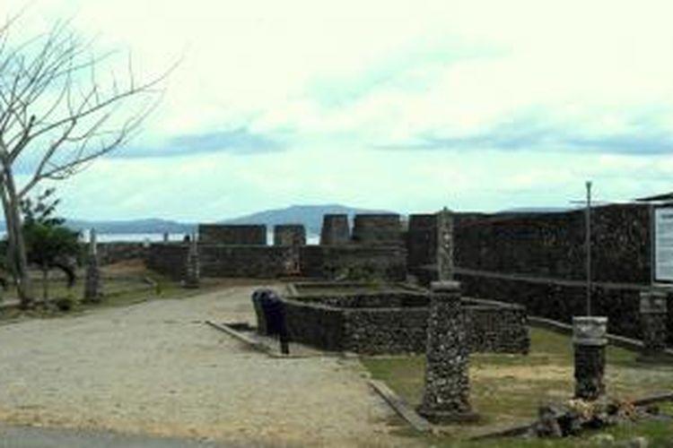 Salah satu tempat Benteng Keraton Buton. Kunjungan Wisatawan ke Benteng Keraton Buton Meningkat
