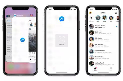 Chat di Facebook Messenger Kini Bisa Dikunci Pakai Face ID