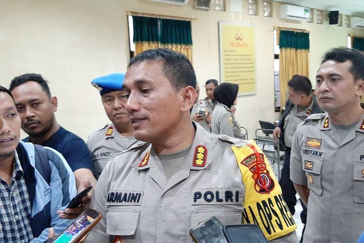 Kapolresta Yogyakarta Kombes Pol Armaini di Mapolresta Yogyakarta Senin (30/12/2019)