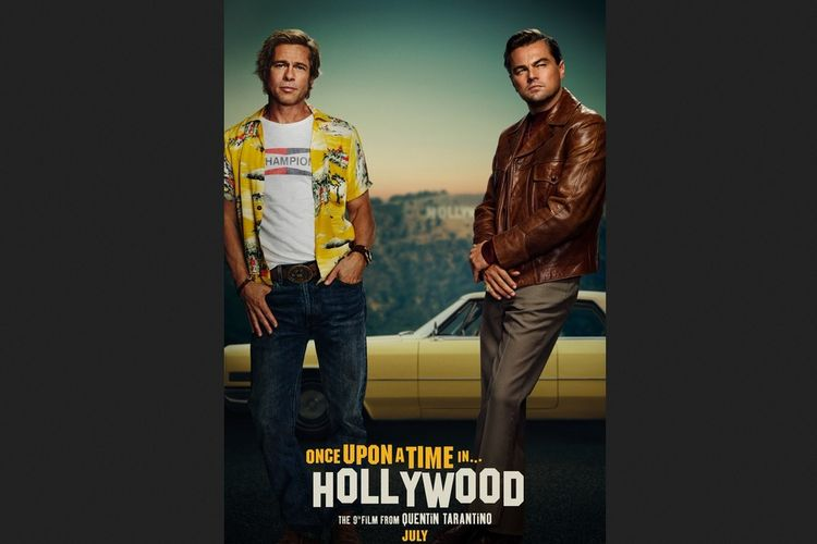 Leonardo DiCaprio dan Brad Pitt dalam film Once Upon a Time In Hollywood.