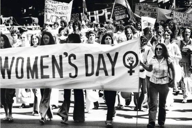 Aksi turun ke jalan dalam Hari Perempuan Internasional