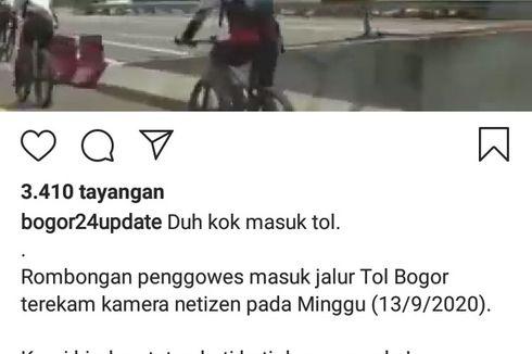 Beredar Video Rombongan Pesepeda Masuk Jalan Tol, Ini Respon Jasa Marga