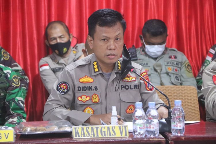 Foto// Suasana Press release Tim Satgas Madago Raya Di Mapolda Sulteng pada Senin (26/7/2021)