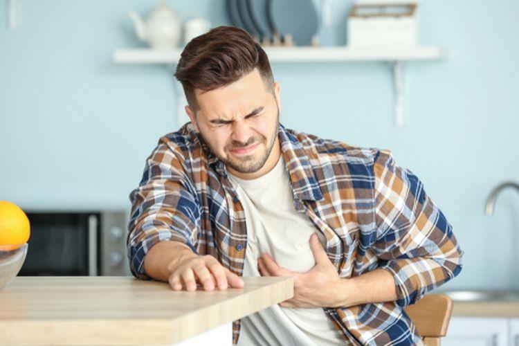Ilustrasi serangan jantung di usia muda