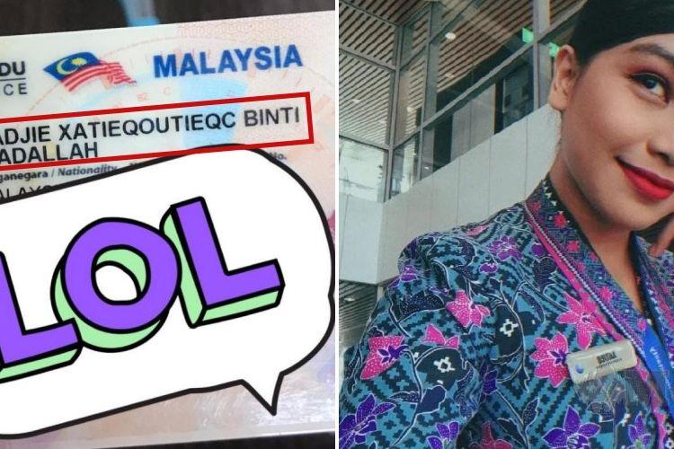 Mantan pramugari Malaysian Airlines, Belle, memiliki nama lengkap Badjie Xatieqoutieqc Ibadallah. Wanita keturunan Sunda ini menjadi perbincangan di Twitter karena namanya.