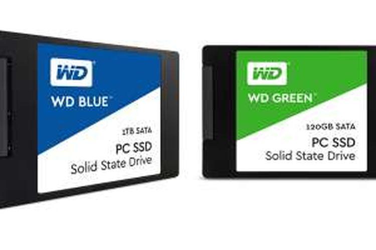 Dua seri SSD baru dari Western Digital, WD Blue dan WD Green.