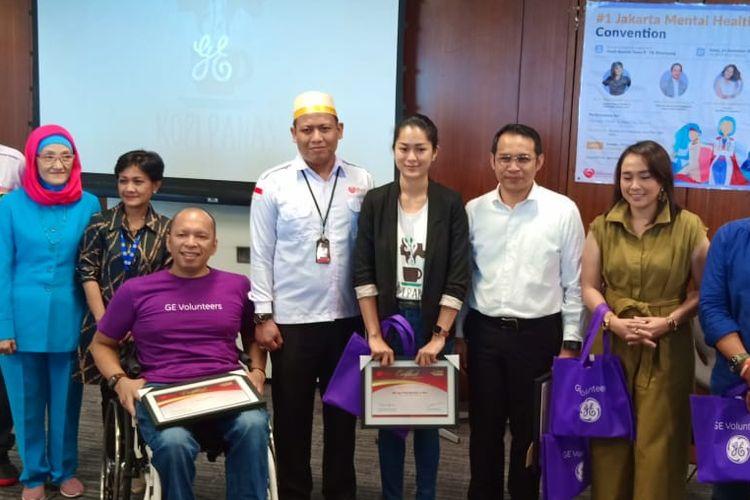 Badan Kesehatan Jiwa Indonesia (Bakeswa Indonesia) bersama GE Volunteers dan Kopi Panas Foundation menggelar diskusi publik Promosi Kesehatan Jiwa dan Pencegahan Bunuh Diri, di Jakarta (21/9/2019).