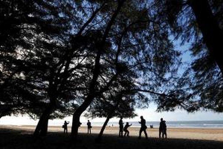 Kerindangan Cemara Udang Pantai Lombang, Kecamatan Batang-batang, Kabupaten Sumenep, Jawa Timur.